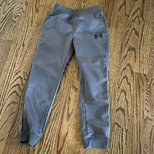 UNDER ARMOUR Youth Boys Athletic Sweat Pants Skinny Legs Size 5 Gray Joggers