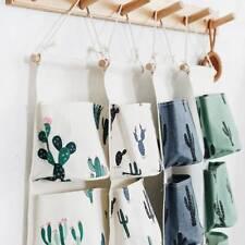 Cactus Pineapple Door Wall Closet Hanging Storage Bag Pouch Organizer,^
