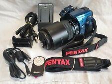 BEAUTIFUL ! BLUE Pentax K-30 Digital Camera