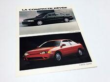 1993 Dodge Colt Information Sheet Brochure - French