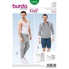 Burda Sewing Pattern Super Easy Men's Jogging Pants Sizes 36 - 46 6719