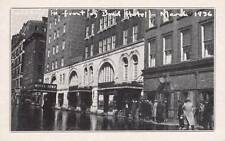 Vintage POSTCARD Sandbags Bond Hotel Great Flood 1936 HARTFORD, CT 16871