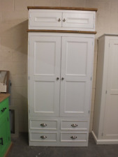 RUTLAND PAINTED LINEN STORAGE CUPBOARD BESPOKE SIZES & COLOURS - F&B ALL WHITE
