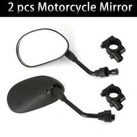 2X Motorbike Reviewmirror Side Wing Mirror Universal Motorcycle/Bike/Scooter UK