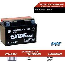 BATERIA DE MOTO EXIDE YT12A-BS (REF EXIDE ET12A-BS) ENVIO GRATIS 24H
