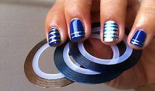 8 rouleaux Striping Tape couleurs différentes  Nail Art Fil Déco Ongle Gel Uv