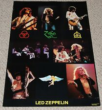 Led Zeppelin Zoso Concert Collage Symbol Poster London 1972 Robert Plant Page
