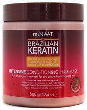NUNAAT BRAZILIAN KERATIN INTENSIVE HAIR MASK COMPLETE HAIR RECOVERY 17.6 OZ.
