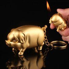 Creative Novelty Little Piggy Lighters Pig Refillable Butane Gas Cigarette