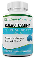 Sulbutiamine 200mg, 60 Caps- A Nootropic Supplement for Memory, Mood & Energy