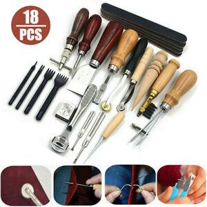 18-teilige Leder-Nähwerkzeuge Basteln Sie das DIY-Handnähwerkzeug-Set aus Leder