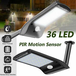 Waterproof 36-LED Solar Lights PIR Motion Sensor Outdoor Garden Yard Wall Lamps
