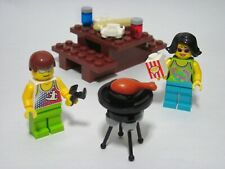 LEGO Summer picnic with 2 minifigures, chicken legs, custom build, all new parts