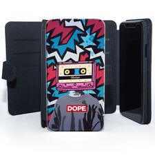 Cassette Head Mixtape Dope Graffiti Art Illustration Leather Phone Case