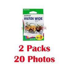 2 Packs FujiFilm Pellicola istantanea Instax Wide Film, 20 FOTOCAMERE 210 300