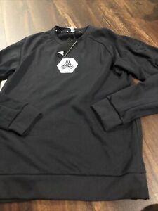New Adidas Mens FC Cincinnati Soccer Sweatshirt Size Medium Black