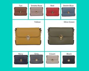 Real Leather Gold Studded Cross Body Bag/Shoulder bag/Adjustable shoulder strap