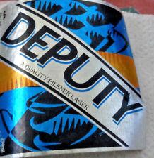 Deputy Barbados Beer Label  Caribbean Lager  Beer