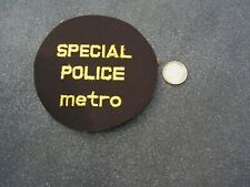 PATCH POLICE ECUSSON COLLECTION  USA   police  special police metro