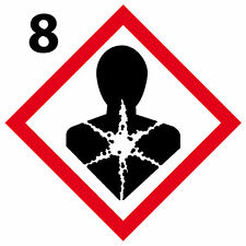 Respiratoire Lot 4 Stickers autocollant danger interdit obligatoir [10cm] GHS 08