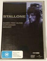 RAMBO FIRST BLOOD / CLIFFHANGER / DAYLIGHT 3 Dvd SYLVESTER STALLONE Region 2, 4