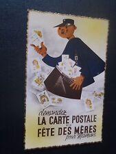 CPSM demandez la carte postale de la Fête des Mères pour maman