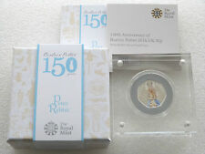 2016 Beatrix Potter Peter Rabbit 50p Fifty Pence Silver Proof Coin Box Coa