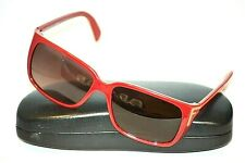 FENDI FS5220 615 Red Plastic Rectangular Women's Sunglasses Made in ITALY