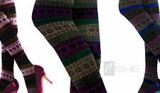 Damen-Socken & -Strümpfe im Blickdichte Strumpfhosen-Stil mit Streifen ohne Mehrstückpackung