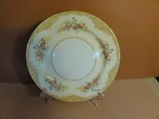 "6 Vintage NORITAKE M Japan fine porcelain China 10"" dinner plates FLORAL gold"
