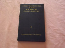 VINTAGE 1940 PSEUDO-ISOCHROMATIC PLATES FOR TESTING COLOR PERCEPTION BOOK