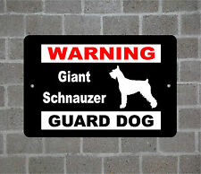 Giant Schnauzer warning GUARD DOG breed metal aluminum sign