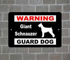 Giant Schnauzer warning GUARD DOG breed metal aluminum sign