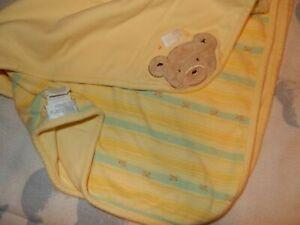 LN Vintage CARTER'S Hide & Seek Teddy Bear Cotton Receiving baby blanket Lovey