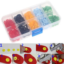 50 Sets Plastic Button Resin Snaps Fasteners Dummy Clips Press Studs 12MM