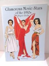 Paper Doll Book Uncut Tom Tierney Glamorous Movie Stars Of The 1950'S