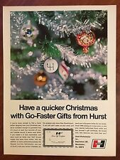 Vintage 1969 Original Print Ad HURST Performance SHIFTERS ~Quicker Christmas~
