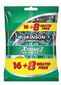 12x Rasoirs Jetables pour Hommes Wilkinson Xtreme 3 Pure Sensitive Masculins