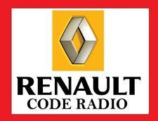 Renault UNLOCK CODE car cd radio player Clio Espace Megane Scenic Laguna