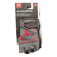 """Under Armour UA Low Impact Training Gloves """"Cool Switch"""" Men's X-Large Gray/Red"""