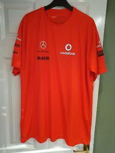 Formula 1 Vodafone Mclaren Mercedes T-shirt. Rocket Red. Size XL. Good Condition