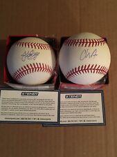 Jonathan Loaisiga Chance Adams Autographed Signed MLB Baseball Lot Yankees