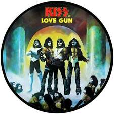 """KISS LOVE GUN QUALITY VINYL STICKER  100MM ROUND 4"""" DECAL MORE LISTED ,,,"""