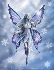 Snowflake Fairy Greetings Card by Anne Stokes yuletide fairy fantasy Christmas