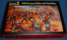 CAESAR Set #77. WWII GERMAN SOLDIERS WITH TANK RIDERS - 1/72 Scale