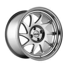 15x8 Whistler KR7 4x100mm +0 Silver Wheels Fits Civic Ef Ek Eg Miata Mr2 E30 Fox