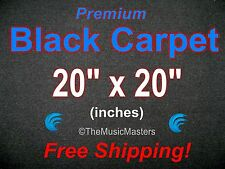 "20"" x 20"" BLACK CARPET for Car Sub Speaker Box Cabinet Pro Road Case Trunk Liner"