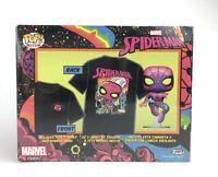 Funko Pop! Black Light Spider-Man Vinyl Figure and T-Shirt Size Large - Marvel