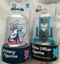 New Wenlock Police Officer & Mandeville Archery Figurines London Olympics 2012