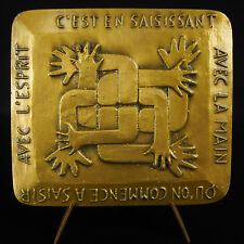 Médaille le Compagnonnage entraide, protection, éducation la main l'esprit medal
